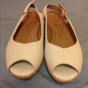Clarks Cork Wedge Sandals, Size 5